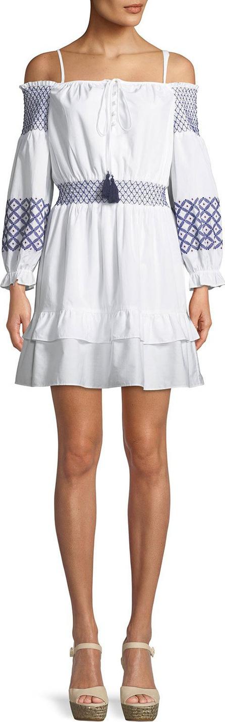 Rebecca Minkoff Brittany Off-the-Shoulder Embroidered Mini Dress