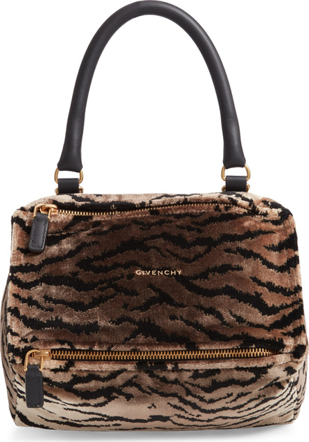 Givenchy Small Pandora Faux Fur Satchel