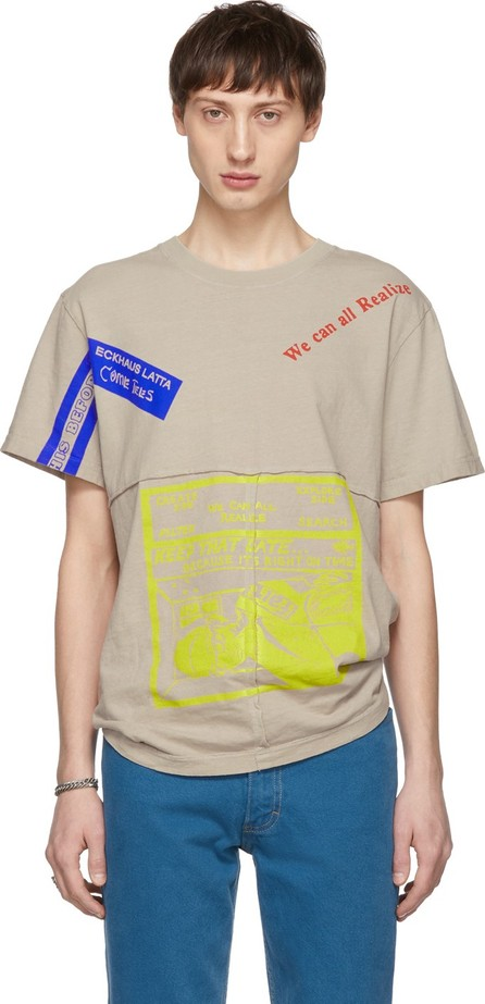 Eckhaus Latta Grey 'Save That Date' Lapped T-Shirt