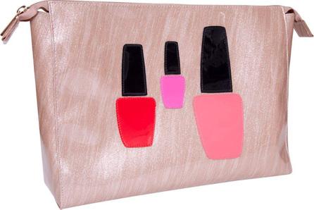 Lolo Bags Betty Cosmetics Bag, Brushed Rose Gold Nail Polish