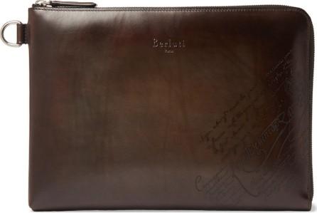 Berluti Nino Scritto Leather Pouch