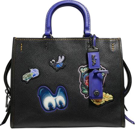 COACH 1941 Disney Dark Fairy Tale Snow White Rogue Patches Tote Bag