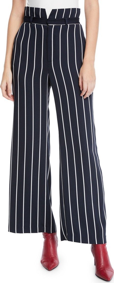 Bardot Striped High-Waist Wide-Leg Pants