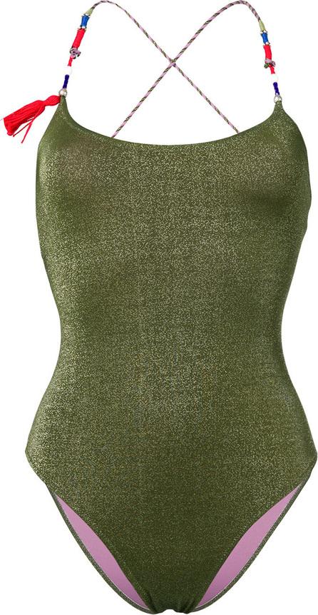 Anjuna Elba contrast strap swimsuit