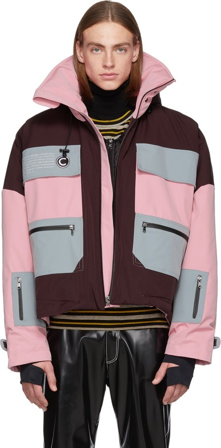 Colmar A.G.E. By Shayne Oliver Pink Long Villa Shell Jacket