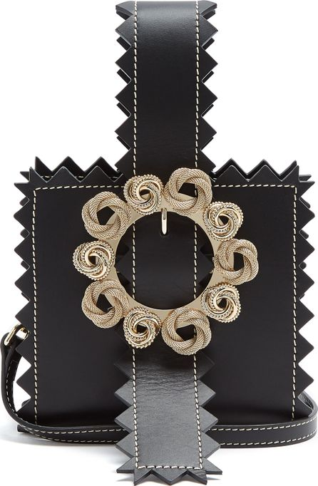 Jacquemus Le Sac Gitan zigzag-edged leather clutch bag