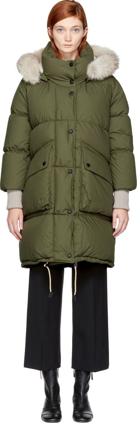Burberry London England Green Down Long Shackleton Coat