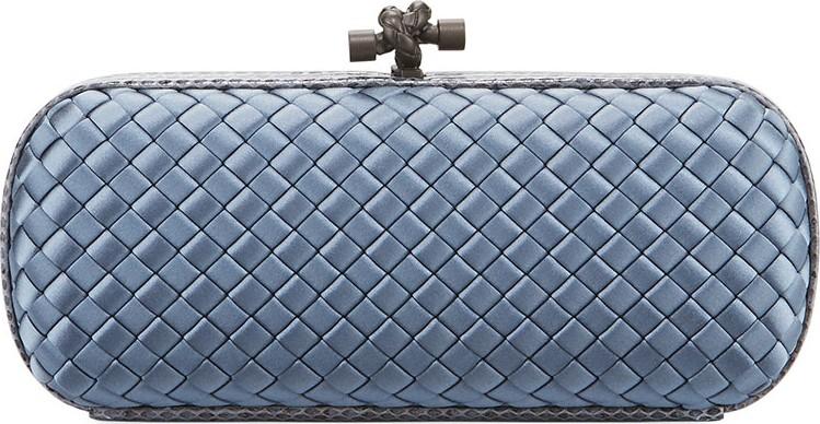dccf04804ad Bottega Veneta Satin-Snakeskin Stretch Knot Clutch Bag - Mkt