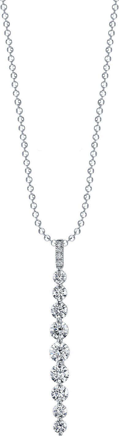 Anita Ko 18k White Gold Medium Diamond Twiggy Necklace