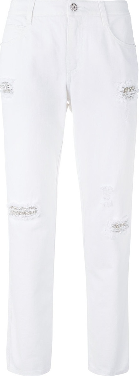 Ermanno Scervino embellished distressed jeans