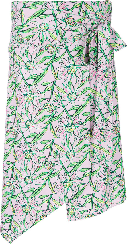 DODO BAR OR Asymmetric floral print skirt