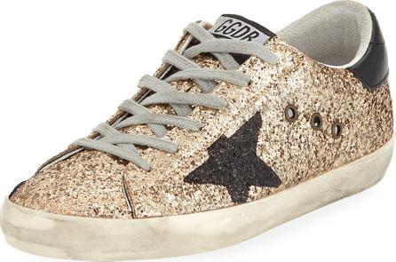 Golden Goose Deluxe Brand Superstar Glitter Fabric Low-Top Sneakers