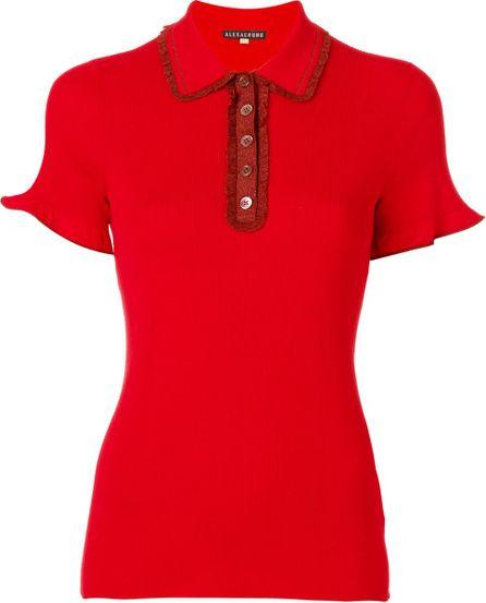 Alexa Chung frill polo shirt