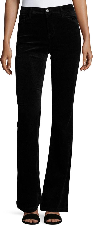 J BRAND Maria Flare Velvet Pants, Black