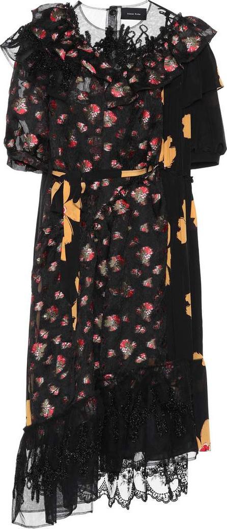 Simone Rocha Floral-printed fil coupé dress