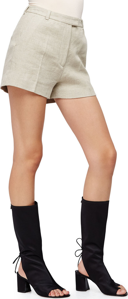 3.1 Phillip Lim Linen-Blend Flat-Front Shorts, Wheat