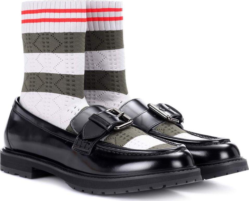 Fendi - Rockoko leather sock loafers