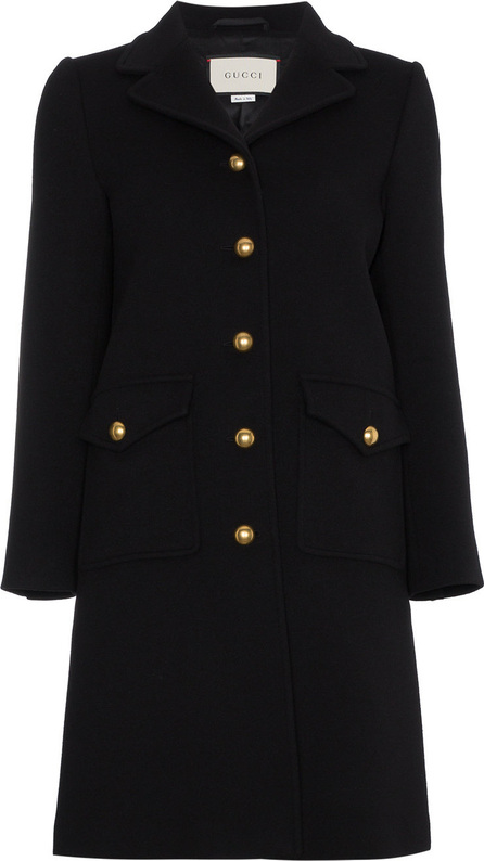 Gucci Single Breasted Coat with Rear Buckle