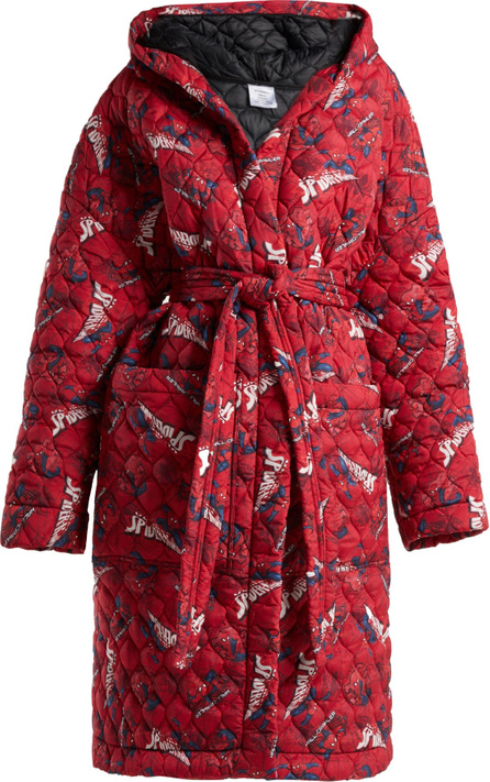 Vetements Spiderman quilted hooded robe