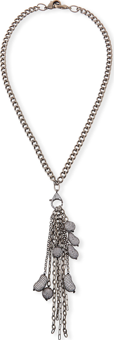 Hipchik Couture Cindy Cubic Zirconia Beans Tassel Necklace