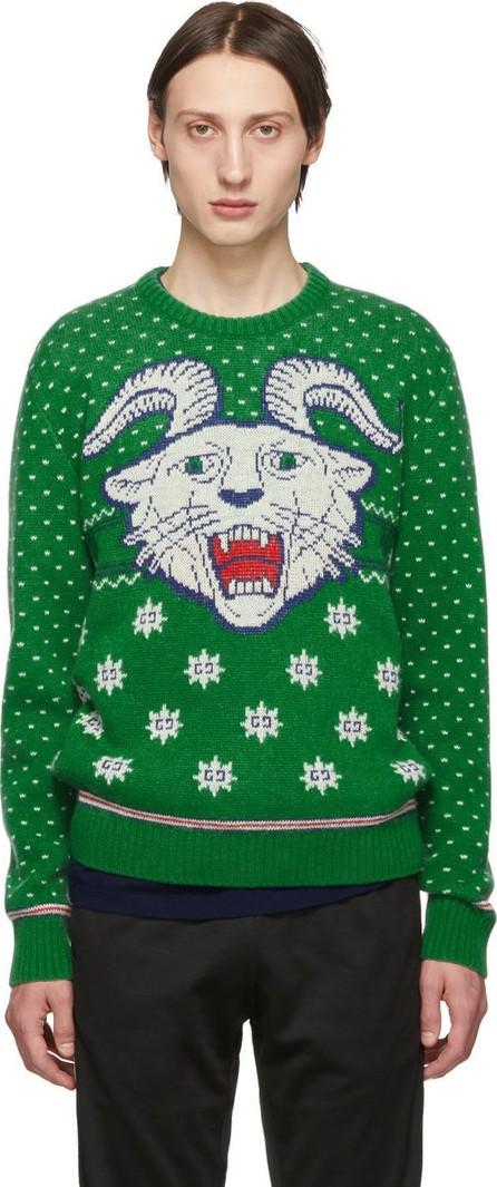 Gucci Green Wool Jacquard Sweater