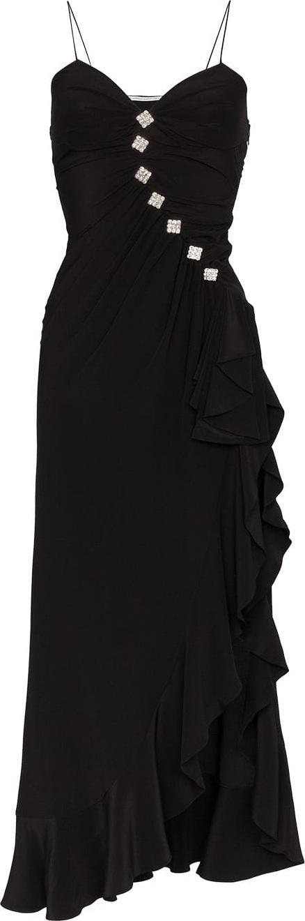 Alessandra Rich Crepe Ruffled Dress