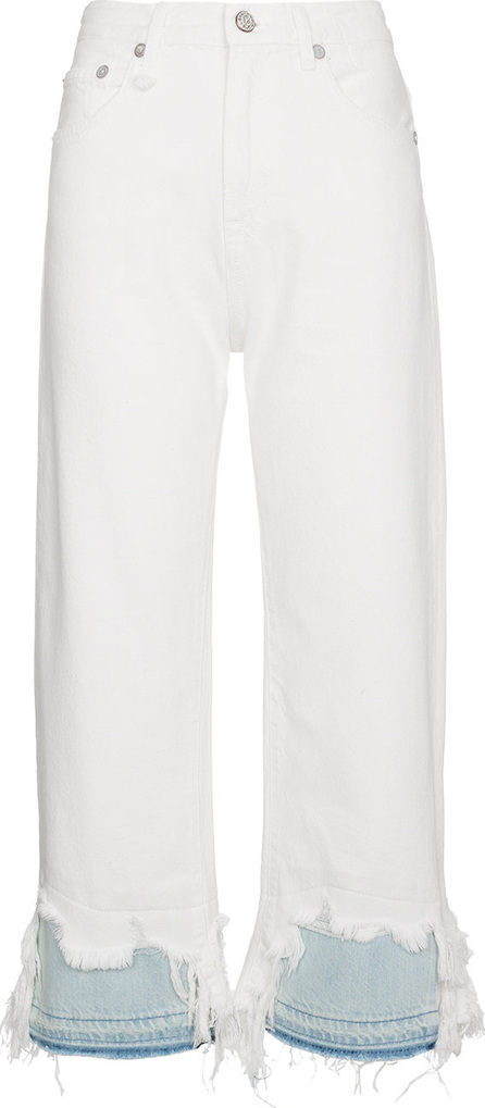 R13 Camille high waist cropped jeans