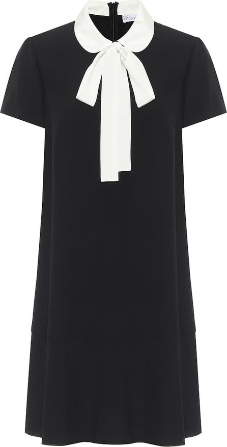 RED Valentino Tie-neck crêpe-envers minidress