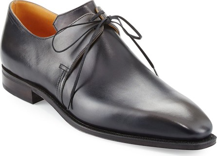 Corthay Arca Patina Derby Shoe, Gunmetal