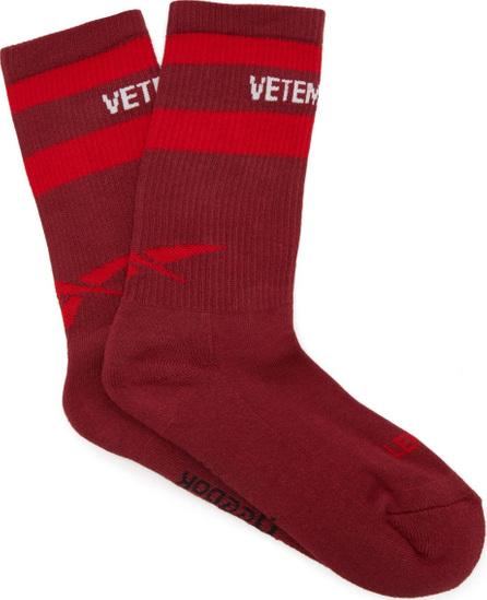Vetements X Reebok logo-intarsia socks