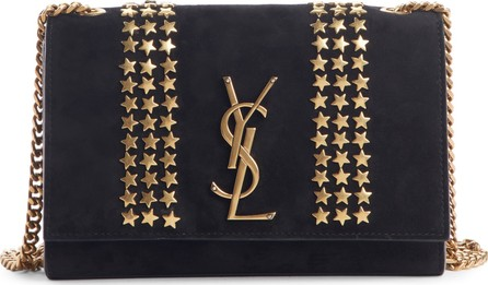 Saint Laurent Small Kate Stars Suede Crossbody Bag