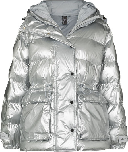 Adidas By Stella McCartney X Stella McCartney metallic puffer jacket