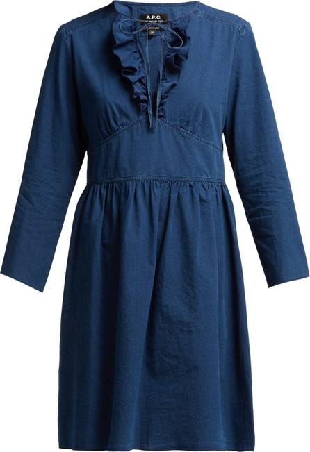 A.P.C. Poppy cotton-chambray dress