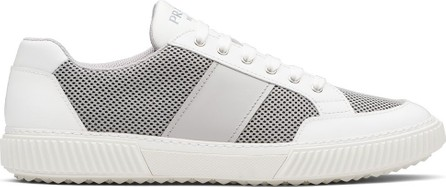 Prada Mesh panel low-top Derby sneakers