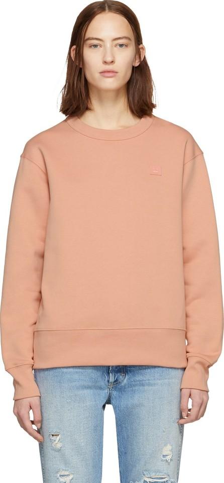 Acne Studios Pink Oversized Fairview Face Sweatshirt