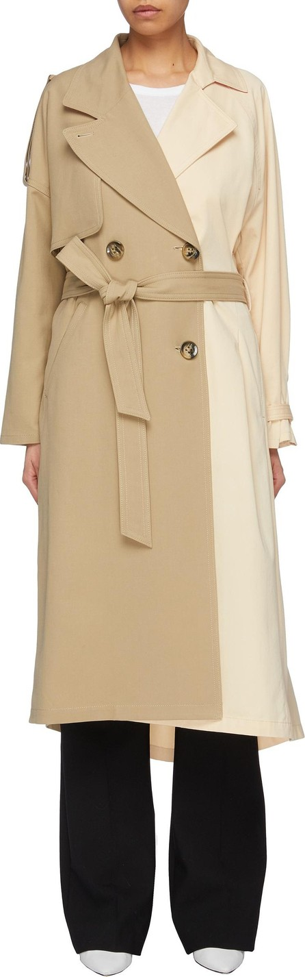 Enfold Belted colourblock trench coat