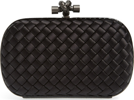 Bottega Veneta Satin & Genuine Snakeskin Clutch