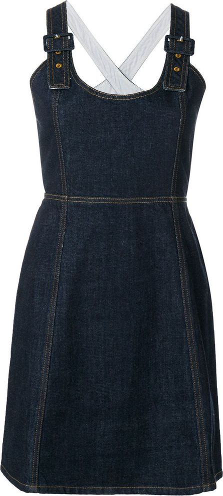 Alexa Chung rinse wash pinafore dress