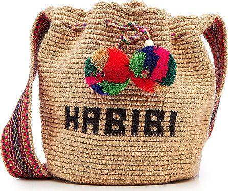 Soraya Hennessy Mini Habibi Woven Mochila Bucket Bag