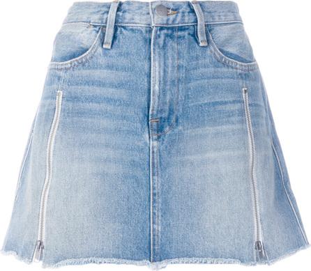 FRAME DENIM A-line denim skirt