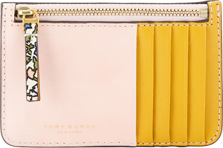 Tory Burch Colorblock Zip Card Case