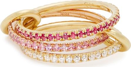 Spinelli Kilcollin Aurora diamond, sapphire, ruby & gold ring