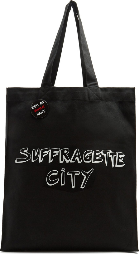 Bella Freud x Gillian Wearing Suffragette City canvas tote bag