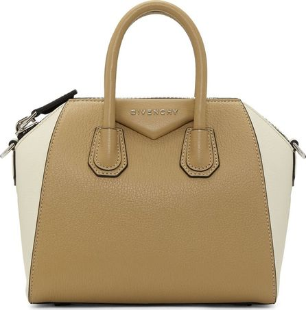 Givenchy Beige & Off-White Mini Antigona Bag
