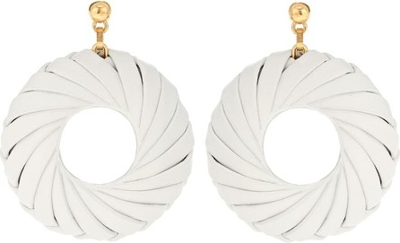 Bottega Veneta Leather and silver earrings