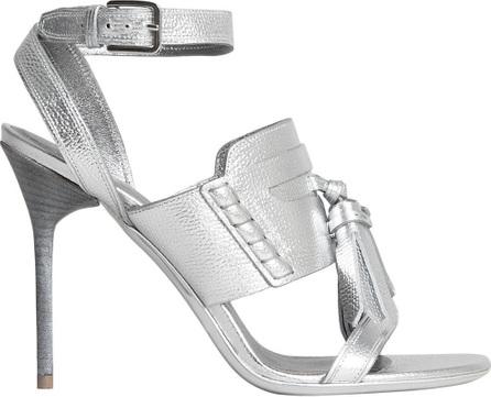 Burberry London England Tasselled Metallic Leather Sandals
