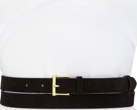 FRAME DENIM Double-Wrap Suede Leather Belt