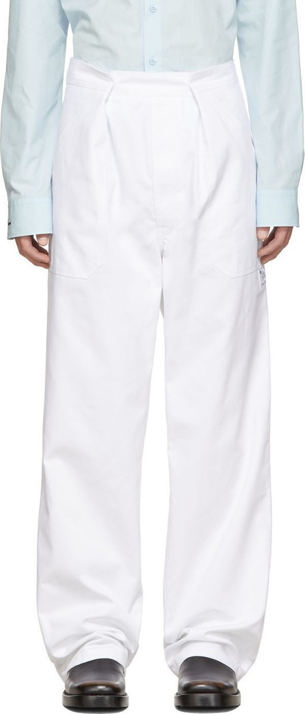 Raf Simons White Heroes & Losers Wide Fit Trousers