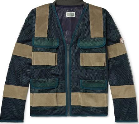 Cav Empt Velvet-Panelled Mesh Jacket