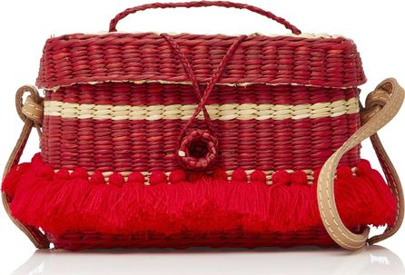 NANNACAY PhiPhi Striped Woven Straw Tote